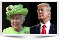 Donald Trump is meeting the Queen for tea